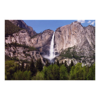 Waterfall at Yosemmite Park Photograph