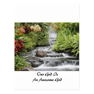 Waterfall - Awesome God Postcard