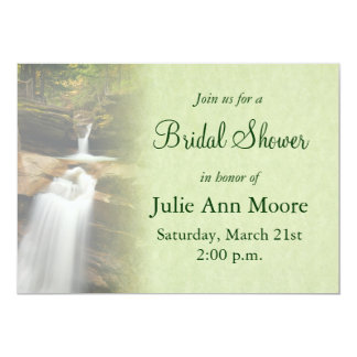 Waterfall Bridal Shower Card