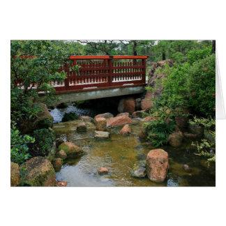 Waterfall Bridge Greeting Card
