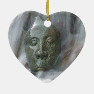Waterfall Buda Ceramic Heart Decoration