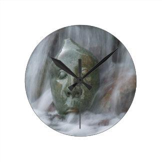 Waterfall Buda Round Clock