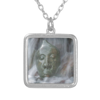 Waterfall Buda Silver Plated Necklace