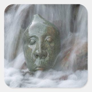 Waterfall Buda Square Sticker