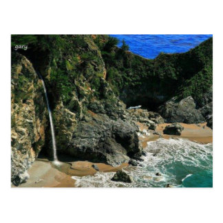 Waterfall by the Sea Postcard
