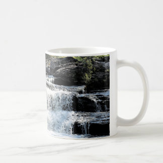 Waterfall Cascades at Moxie Falls West Forks Maine Coffee Mug