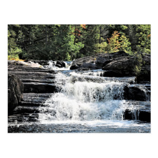 Waterfall Cascades at Moxie Falls West Forks Maine Postcard