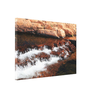 Waterfall cascades, Outback Australia Canvas Print