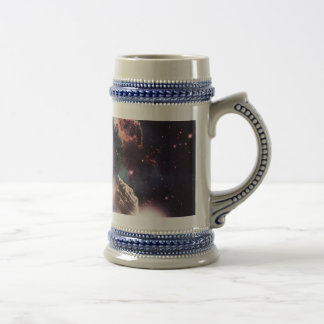 waterfall cat - cat fountain - space cat beer stein