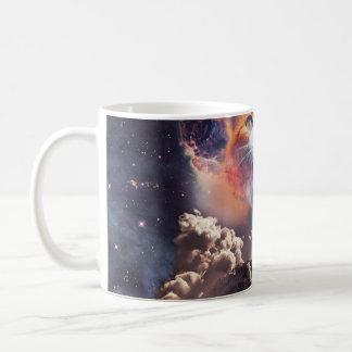 waterfall cat - cat fountain - space cat coffee mug
