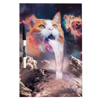 waterfall cat - cat fountain - space cat dry erase board