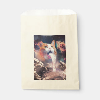 waterfall cat - cat fountain - space cat favour bag
