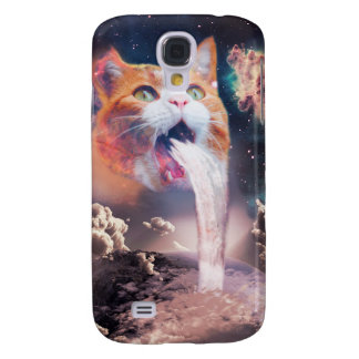 waterfall cat - cat fountain - space cat galaxy s4 cases