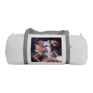 waterfall cat - cat fountain - space cat gym duffel bag
