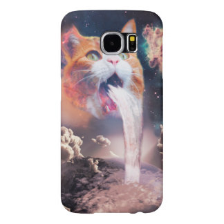 waterfall cat - cat fountain - space cat samsung galaxy s6 cases