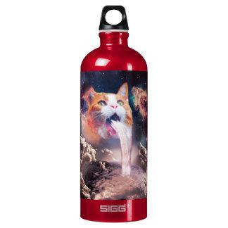 waterfall cat - cat fountain - space cat water bottle
