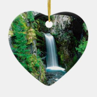 Waterfall Christine Mount Rainier Ceramic Ornament