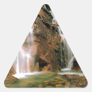 Waterfall Cool Water Sawtooth Wilderness Idaho Triangle Sticker