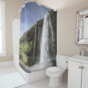 Waterfall, customise shower curtain