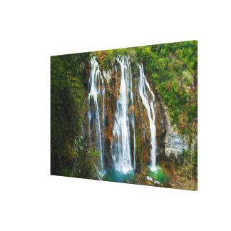 Waterfall elevated view, Croatia Canvas Print