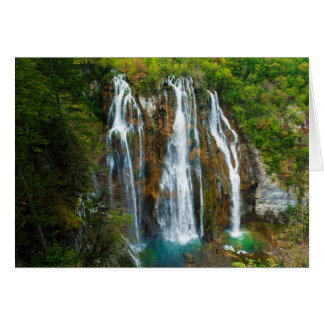 Waterfall elevated view, Croatia Card