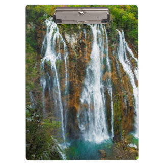 Waterfall elevated view, Croatia Clipboard
