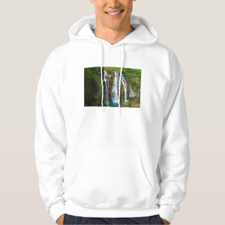 Waterfall elevated view, Croatia Hoodie