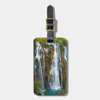 Waterfall elevated view, Croatia Luggage Tag