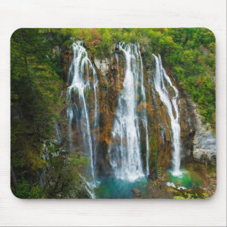 Waterfall elevated view, Croatia Mouse Pad