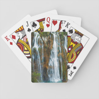 Waterfall elevated view, Croatia Playing Cards