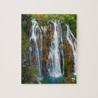 Waterfall elevated view, Croatia Puzzles