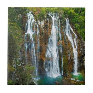 Waterfall elevated view, Croatia Tile
