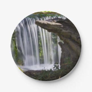 Waterfall Focused Paper Plate
