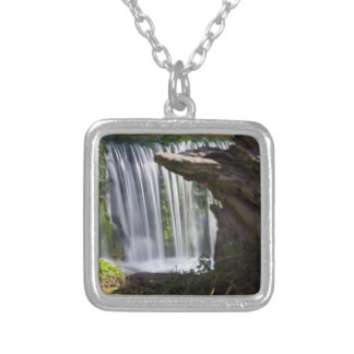 Waterfall Focused Silver Plated Necklace