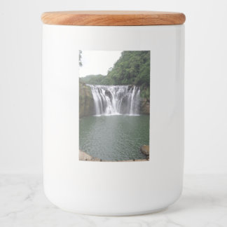 Waterfall Food Container Label