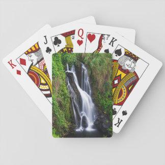 Waterfall, Hamakua coast, Hawaii Poker Deck