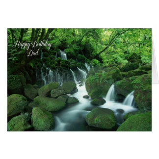 Waterfall Happy Birthday for Dad Card