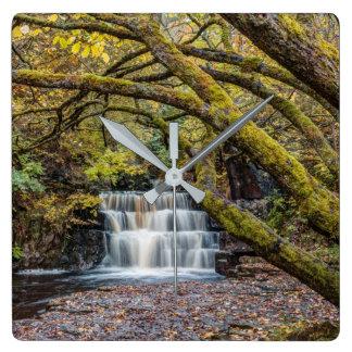 Waterfall in Autumn Wall Clocks