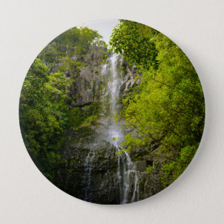 Waterfall in Maui Hawaii 10 Cm Round Badge