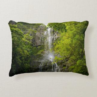 Waterfall in Maui Hawaii Decorative Cushion