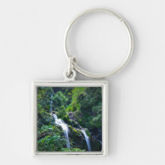 Waterfall in Maui Hawaii Key Ring