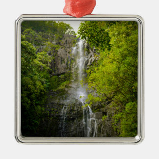 Waterfall in Maui Hawaii Metal Ornament