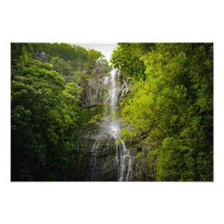 Waterfall in Maui Hawaii Photo Print