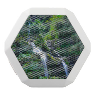 Waterfall in Maui Hawaii White Bluetooth Speaker