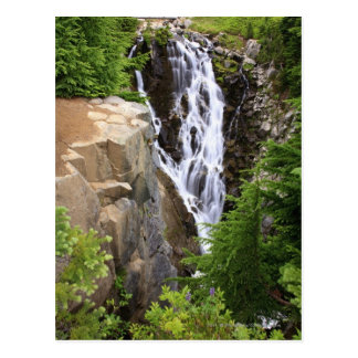 Waterfall in Mount Rainier National Park Postcard