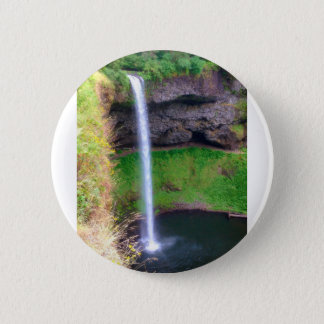 Waterfall in Oregon 6 Cm Round Badge