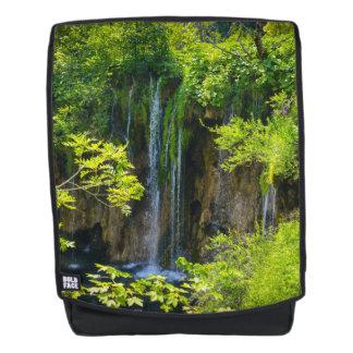 Waterfall in Plitvice National Park in Croatia