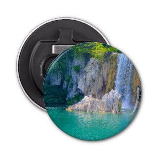 Waterfall in Plitvice National Park in Croatia Bottle Opener