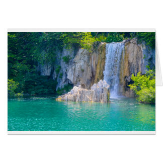 Waterfall in Plitvice National Park in Croatia Card