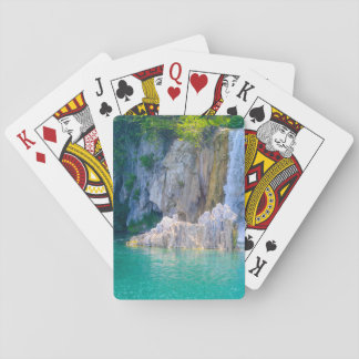 Waterfall in Plitvice National Park in Croatia Playing Cards